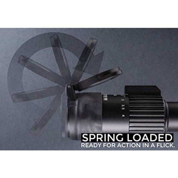 Monstrum Rifle Scope 6 Monstrum 3-9x32 Rifle Scope with Rangefinder Reticle | Monstrum Flip Up Lens Cover Set | Bundle