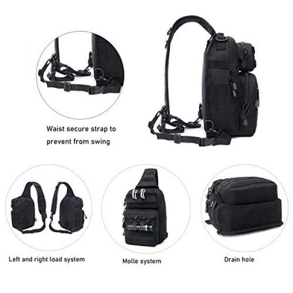 Tacticool Tactical Backpack 3 Tactical Sling Bag Pack Military Rover Shoulder Sling Backpack Molle Assault Range Bags Chest Pack Day Pack Diaper Bag