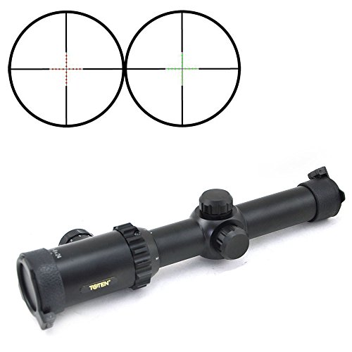 TOTEN Rifle Scope 2 TOTEN 2017 Rifle Scope 1-8X24L+VDK Wide Angle Hunting Tactical Military Hunting Scope
