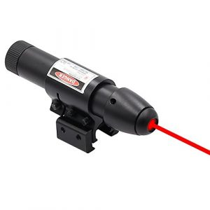 Higoo Rifle Laser Sight Aim Dot 1 Higoo Powerful Red Laser Dot Sight, Military Tactical Hunting Red Laser Scope, Red Laser Aiming Sight Barrel Mount & Pressure Switch