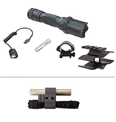 Ultimate Arms Gear Rifle Scope 6 Ultimate Arms Gear Universal 12 GA Barrel/Mag Tube Mount, Black + Flashlight Light Kit For 12 Gauge Shotgun Paintball Airsoft