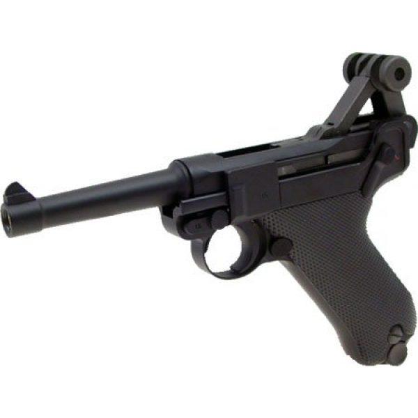 WE Airsoft Pistol 5 WE p-08 short version gas blowback full metal - black(Airsoft Gun)
