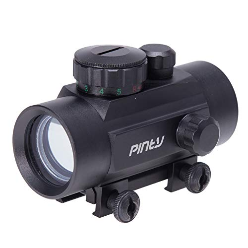 Pinty Rifle Scope 4 Pinty 30mm Reflex Red Green Dot Sight Scope 0.5 MOA with Flip Up Lens Cover Cap