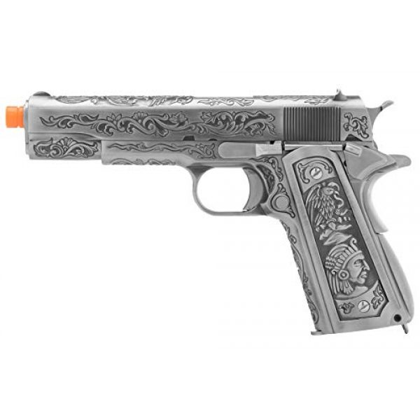 Lancer Tactical Airsoft Pistol 1 Lancer Tactical WE Full Metal Airsoft Gas Blowback Floral Pattern Pistol 1911 Silver