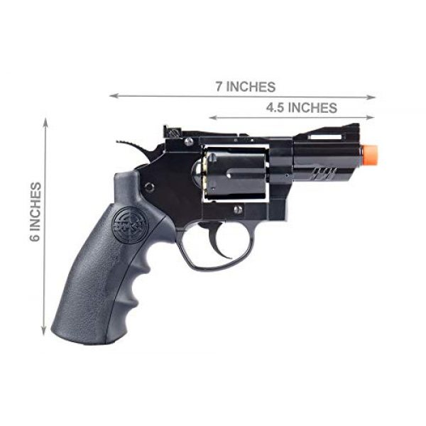SRC Airsoft Pistol 7 SRC 2.5 INCH Barrel Titan CO2 Gas Airsoft GBB Cowboy Metal Revolver (Black)