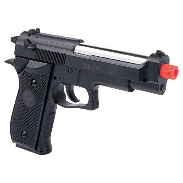 Game Face Airsoft Pistol 1 Game Face GFRAP22B Recon Spring Powered Single Shot Combat Pistol, Black, 6.0mm,Multi