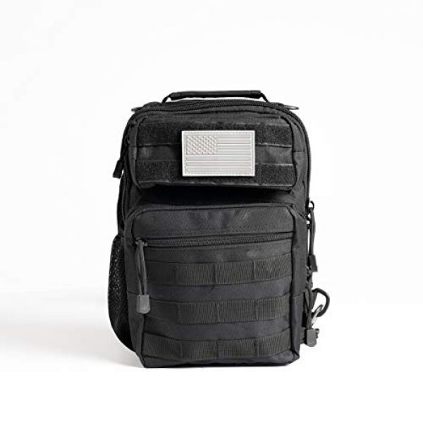 Whiskey Woods Outdoors Tactical Backpack 7 Whiskey Woods Outdoors Military Tactical EDC Sling Bag Molle Shoulder Diaper backpack