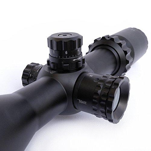 SECOZOOM Rifle Scope 6 SECOZOOM Highest Repeatability Scope Turrets Knobs 2.5-15x50 Riflescope with Customized Reticle FFP Optical Sight