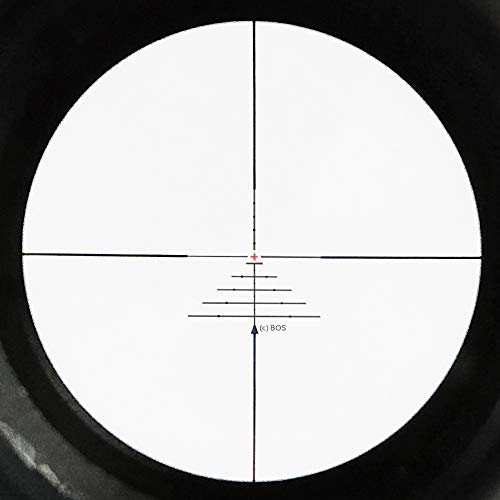 SECOZOOM Rifle Scope 5 SECOZOOM Optics 4-50x75mm New Distance Measuring BOS Reticle Optical Sight Big Wide Field of View Military Riflescope Hunting Tactical Optical Sights .50BMG w 35mm mounts and Sunshade