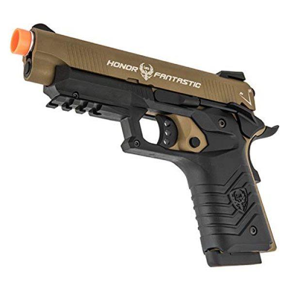 HFC Airsoft Pistol 4 HFC Honor Fantastic 1911 Gas Blowback Airsoft Pistol TAN Black