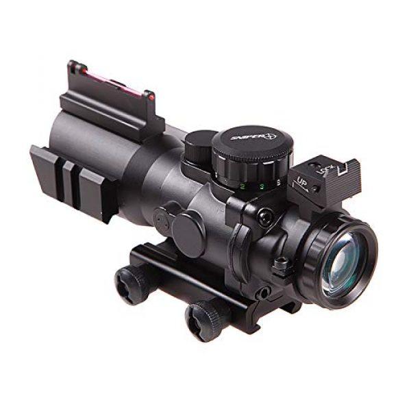 Sniper Rifle Scope 1 Sniper 4x32 Rifle Scope Red/Green Illuminated Reticle Scope