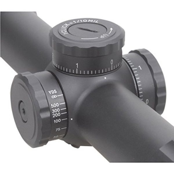 Vector Optics Rifle Scope 4 Vector Optics Marksman 4.5-18x50mm 1/10 MIL Hunting Riflescope with MP Reticle, Free 30mm Tactical Mount Rings, Lens Covers and Honeycomb Sunshade (Matte Black)