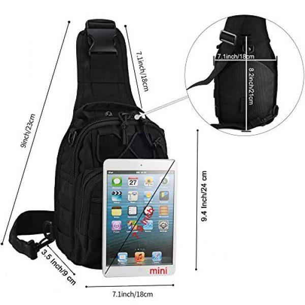 Novemkada Tactical Backpack 2 Tactical Shoulder Bag,1000D Outdoor Military Sling Daypack Backpack