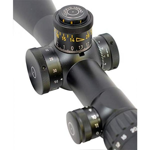 Schmidt & Bender Rifle Scope 3 Schmidt & Bender PM II 5-25x56 34mm FFP 1/4 P4FL-MOA Illumi. Riflescope