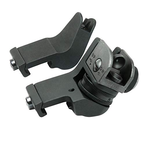 KTAIS Rifle Sight 2 KTAIS US 45 Degree Offset Front&Rear Rapid Transition BUIS Adjustable Iron Sight Set (Color : Black)