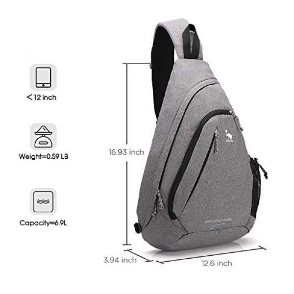 Kimlee Tactical Backpack 2 OIWAS One Strap Backpack for Men Single Strap Backpack Sling Bag Crossbody Shoulder Daypack for Boys Women