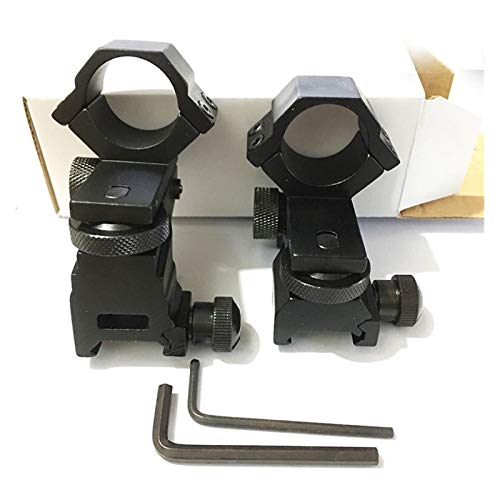 Without Rifle Scope 2 Toy Gun Sight Red dot Sight Magnification Adjustable Low/high Profile Scope/Torch Mount/Weaver Mount (Color : High)