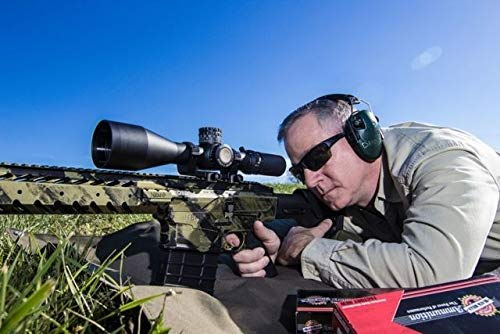 NightForce Rifle Scope 6 Nightforce Optics 5-25x56 ATACR Series Riflescope, Matte Black with DigIllum Illuminated SFP MOAR-T Reticle, 34mm Tube Diameter, .250 MOA, Side Parallax Adjust