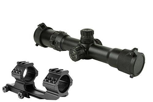 FOLEY Rifle Scope 6 FOLEY 1.5-4X30 Tri-Illuminated Mil Dot or Horseshoe or Chevron Reticle Riflescope with Locking Turrets