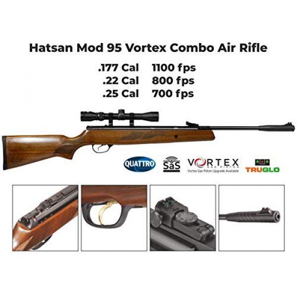 Wearable4U Air Rifle 4 Hatsan Mod 95 Vortex Combo Air Rifle with Wearable4U 100x Paper Targets and Lead Pellets Bundle