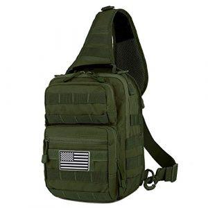 QT&QY Tactical Backpack 1 QT&QY Tactical Sling Bag for Men Small Military Rover Shoulder Backpack EDC Chest Pack Molle Assault Range Bag
