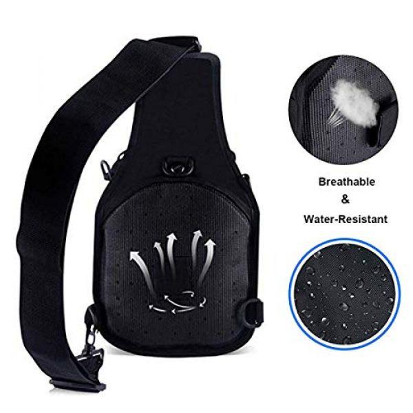 hopopower Tactical Backpack 3 Hopopower Tactical Sling Bag Pack Crossbody Shoulder Backpack Sport Daypack for Men