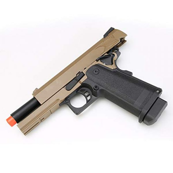 BULLDOG AIRSOFT Airsoft Pistol 4 Airsoft HI-CAPA 4.3 Desert Green Gas Pistol with Free Speed Loader BBS and Gun Case [Airsoft Blowback]