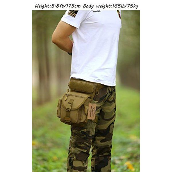 ArcEnCiel Tactical Backpack 7 ArcEnCiel Leg Bag Tactical Military Drop Waist Thigh Hip Fanny Pack Tool Gear Pouch