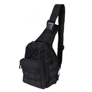 REDGO  1 REDGO Tactical Shoulder Chest Bag Military Crossbody Oxford Cloth Comfortable Crossed Backpack for Trekking Camping Hiking