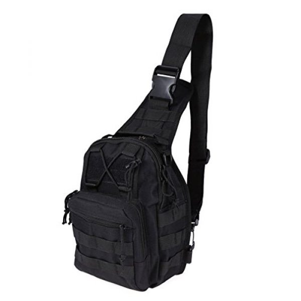 REDGO Tactical Backpack 1 REDGO Tactical Shoulder Chest Bag Military Crossbody Oxford Cloth Comfortable Crossed Backpack for Trekking Camping Hiking