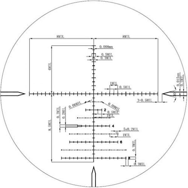 Vector Optics Rifle Scope 6 Vector Optics Marksman 4-16x44mm, 1/10 MIL, 30mm Tube, First Focal Plane (FFP) Hunting Riflescope