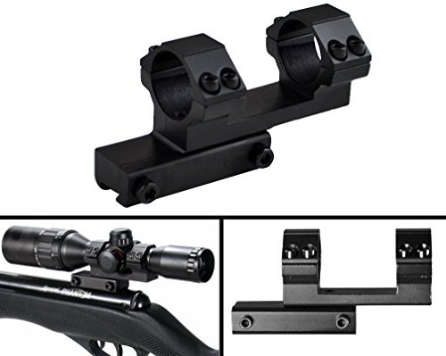 """Ultimate Arms Gear Rifle Scope Mount 1 Ultimate Arms Gear 1"""" Inch Tube Aluminum Flat Top Base One Piece Cantilever Dual Double Gun Scope Ring Offset 3/8"""" Dovetail Mount, For Red Dot Sights, Optics, Airsoft Air Gun Paintball"""