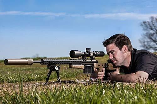NightForce Rifle Scope 7 Nightforce Optics 5-25x56 ATACR Series Riflescope, Matte Black with DigIllum Illuminated SFP MOAR-T Reticle, 34mm Tube Diameter, .250 MOA, Side Parallax Adjust