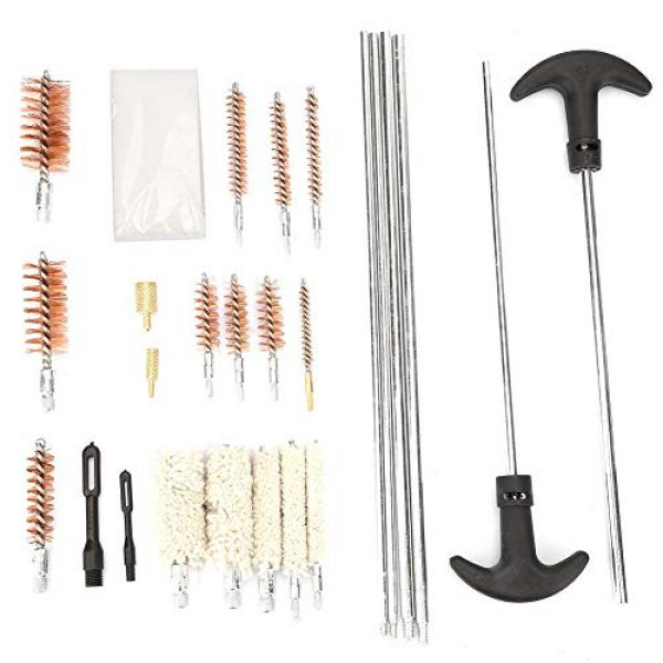 Vikye Rifle Cleaning Kit 4 Rifle Cleaning Kit, 103 Pcs Universal Gun Cleaning Tools Kit, Rifle Pistol Handgun Shotgun Firearm Cleaner Tool Made of Wire Brush and Cotton