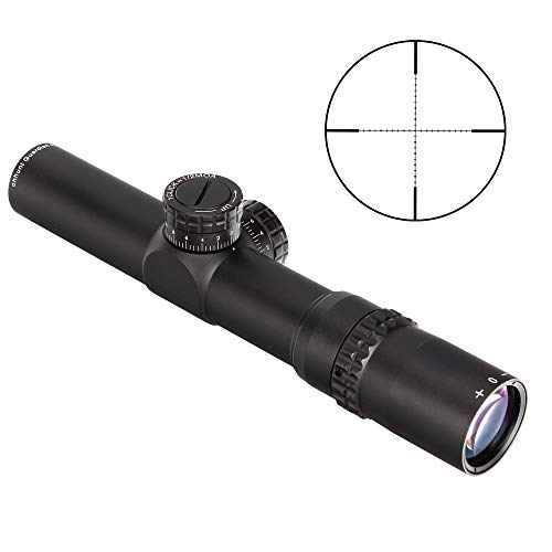 WINFREE Rifle Scope 2 WINFREE 4.5x24 Rifle Scope 30mm Tube Second Focal Plane Tactical Optics Sight 1/2 Half Mil Dot Reticle Turrets Reset Riflescope