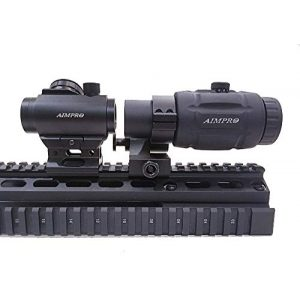 AIMPRO Rifle Scope 1 AIMPRO Micro Red Dot Sight with Flip to Side Magnifier Combo