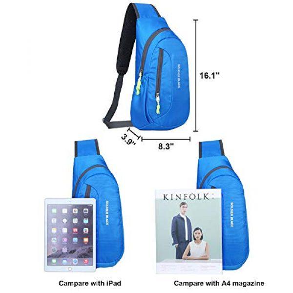 Peicees Tactical Backpack 3 Peicees Sling Backpack Shoulder Chest Crossbody Bag Purse Lightweight Waterproof Daypack for Men Women