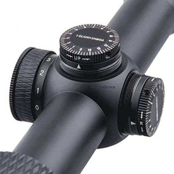 Vector Optics Rifle Scope 4 Vector Optics Matiz 3-9x50 Second Focal Plane (SFP) Tactical Riflescope with Red Dot Illuminated Reticle, 25.4mm Tube, 1/4 MOA Per Click Adjustment, Edge-to-Edge Image, Free Mount Rings, Lens Caps