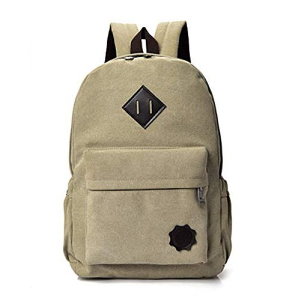 """J&Q Tactical Backpack 1 J&Q Casual High Capacity Canvas Vintage Backpack - for School Hiking Travel 12-17"""" Laptop"""