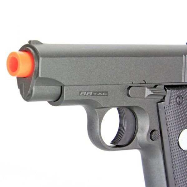 BBTac Airsoft Pistol 3 bbtac bt-g2 full metal slide body sub compact 240 fps spring airsoft gun and tactical skeleton hammer(Airsoft Gun)
