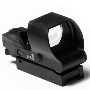 SUIYEU Rifle Scope 1 Reflex Sight   45 Degree Offset Mount Included   Reflex Rifle Optic with 4 Reticle Patterns   Adjustable Color Settings   Red Dot Green Dot Gun Scope