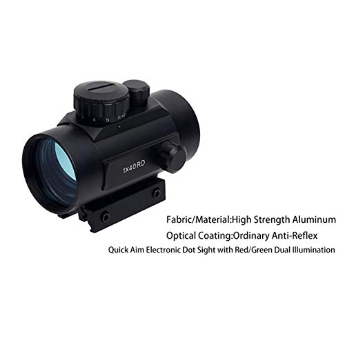 UELEGANS Rifle Scope 3 UELEGANS Red Dot Sight Red & Green 5 Brightness Settings with 11mm/20mm Weaver/Picatinny Rail Mount and Protector Covers Rifle Scope for Hunting