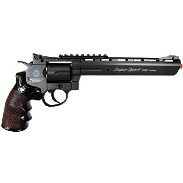 "Boomingisland Airsoft Pistol 2 Boomingisland Wingun 703 8"" Airsoft CO2 Revolver Black"
