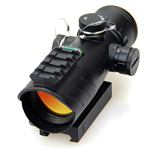 DJym Rifle Scope 1 DJym Red Dot Sight with Air Level, Parallax Free Unlimited Eye Relief Usefriendly for Close Range Hunting and Shooting