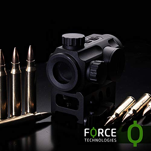NANA Rifle Scope 6 Force Technologies Red Dot Sight RDS-21, 4 MOA, Matte Black, with QD-Mount for Weaver/Picatinny
