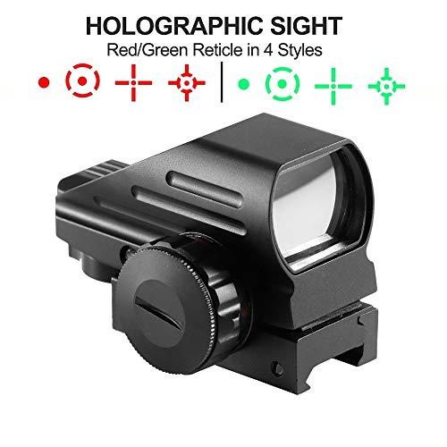 HIMIFOY Rifle Scope 3 HIMIFOY 4-12X50 EG Tactical Rifle Scope Dual Illuminated Optics & Rangefinder Illuminated Reflex Sight 4 Holographic Reticle Red/Green Dot Sight & IIIA/2MW Laser Sight(Red)