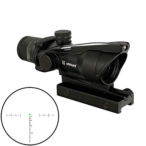 WINFREE Rifle Scope 1 WINFREE ohhunt 4x32 Hunting RifleScopes Green Etched Reticle Real Fiber Optics Tactical Optical Sights Scope