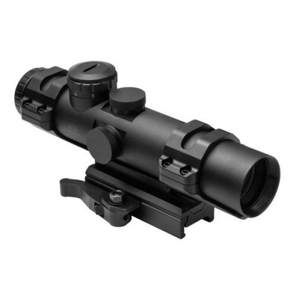 NcSTAR Rifle Scope 1 NcSTAR XRS Series 2-7x32 Compact Scope w/ Modular Upper Scope Rings, Black, Blue Ill. SECXRSM2732G by NcSTAR