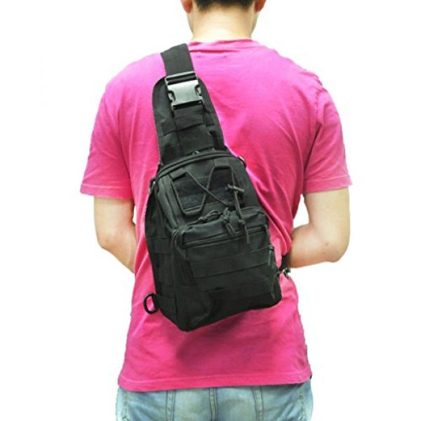 Qcute Tactical Backpack 5 Qcute Tactical Bag, Single Shoulder Messenger Bag, Chest Bag, Casual Office Tactical Satchel, Small Tool Backpak, Bag Which is Suitable for Carrying ipad, Smart Phone, Wallet and Daily Necessities