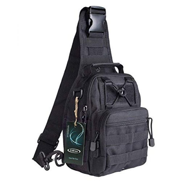G4Free Tactical Backpack 1 G4Free Tactical Sling bag and Big version Sling Backpack for Concealed Carry